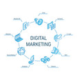 digital marketing isometric concept connected vector image