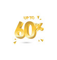 discount up to 60 template design vector image vector image