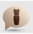 Dress sign Brown gradient icon on vector image vector image