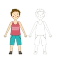 Educational game draw the human boy vector image vector image