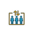 elevator icon simple element from shopping center vector image vector image