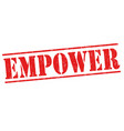 empower sign or stamp vector image vector image