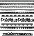 Ethnic traditiolnal borders vector image vector image
