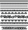 ethnic traditional borders vector image vector image