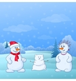 family of snowmen vector image vector image