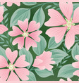 flower seamless summer pattern floral garden tile vector image