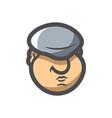 georgian with a big hat icon cartoon vector image