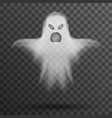 ghost halloween white scary isolated template vector image