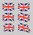 Great Britain Flag Set national flag of British vector image vector image
