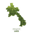 green leaf map of laos vector image