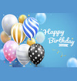 happy birthday card party with balloons set vector image vector image