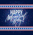 happy memorial day card national american holiday vector image vector image