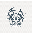 icon with crab vector image vector image