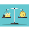 Idea money and scales vector image vector image