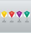 infographic design element template for business vector image