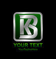 initial letter kb or bk logo template colored vector image vector image
