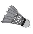 isolated badminton shuttlecock vector image
