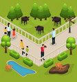 isometric zoo template vector image