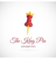 King pin abstract symbol icon vector image