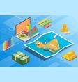 mali isometric financial economy condition concept vector image vector image