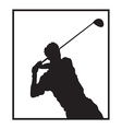 Man playing golf design vector image vector image