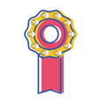 Medal symbol to winner of competition game vector image