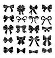 monochrome bows and ribbons set holiday vector image vector image