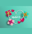 mothers day card of pink decoration for mom love vector image vector image