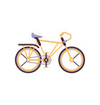 orange road bike modern bicycle vector image vector image