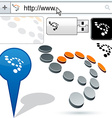 Original dots design element vector image vector image