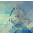 pattern of geometric shapes with bike vector image vector image