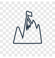 peak concept linear icon isolated on transparent vector image