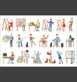 people with artistic professions set of vector image vector image