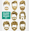 realistic male hairstyle set vector image