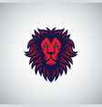 red lion logo design vector image vector image