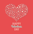 red valentines day postcard vector image vector image
