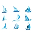 Sailboat symbol set vector image vector image