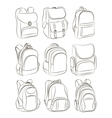 School backpacks set vector image