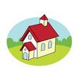 schoolhouse vector image vector image