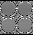 seamless pattern volumetric rhombus from strips vector image