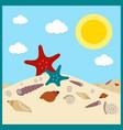 seashells in sand shells summer image vector image vector image