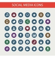 Set of modern flat design social media icons vector image vector image