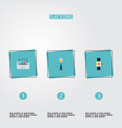 set of modern icons flat style symbols with vector image vector image