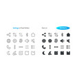 settings ui pixel perfect well-crafted thin vector image vector image