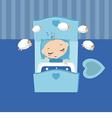 Sleeping little boy vector image