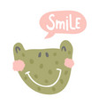 smile frog vector image