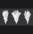 smoke stream on transparent background realistic vector image vector image
