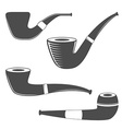Smoking pipes isolated on white background vector image vector image