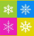 snowflakes art vector image vector image