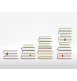 Stacks of books are in the form of a graph vector image vector image